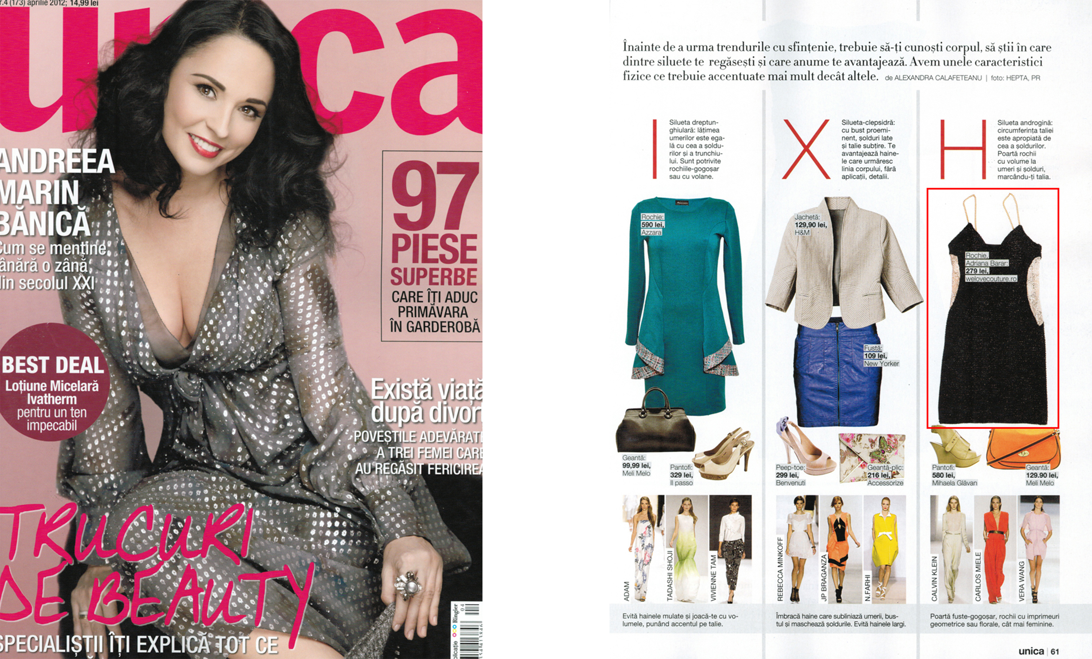 "BAD style in revista ""Unica"