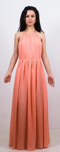 Rochie lunga cu spatele gol piersica