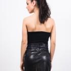 top negru tip corset din stofa