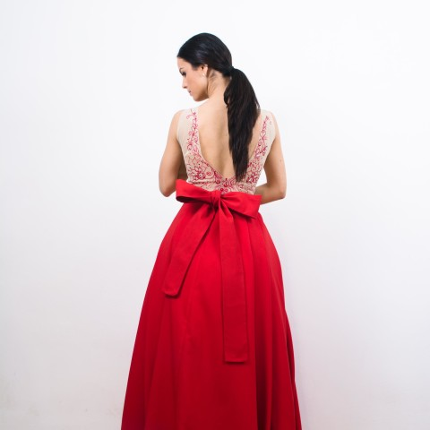 Rochie maxi rosie