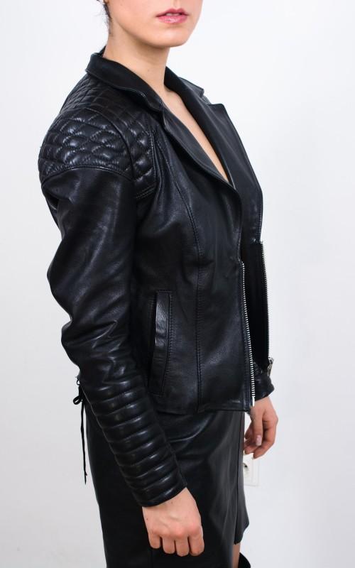 jacheta din piele tip moto
