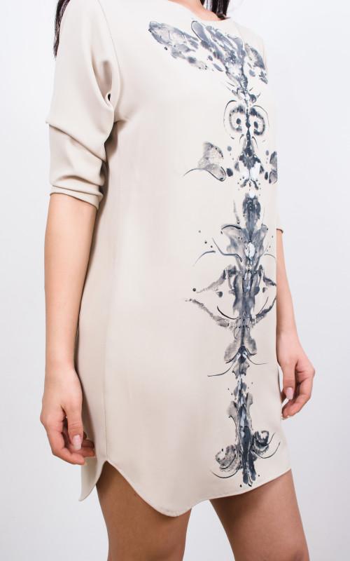 rochie tip camasa pictata manual